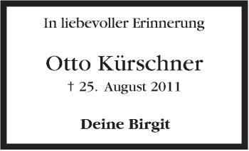 Zur Gedenkseite von Otto Kürschner
