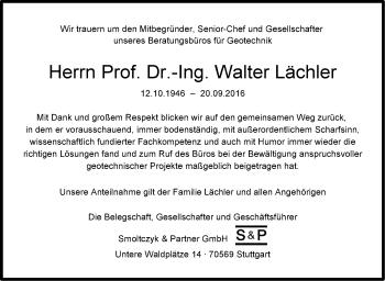 Zur Gedenkseite von Walter Lächler