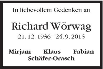 Zur Gedenkseite von Richard Wörwag
