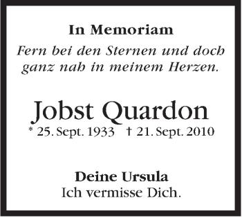 Zur Gedenkseite von Jobst Quardon