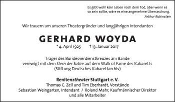 Zur Gedenkseite von Gerhard Woyda
