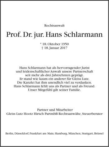 Zur Gedenkseite von Hans Schlarmann