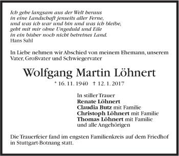 Zur Gedenkseite von Wolfgang Martin Löhnert