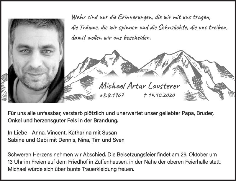 Traueranzeigen von Michael Artur Lauster | stuttgart